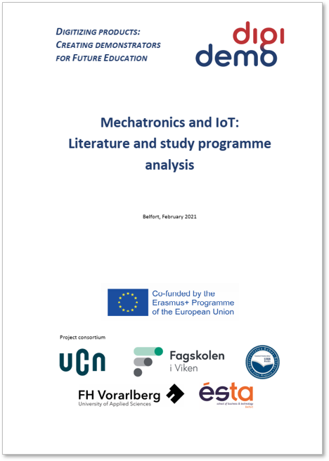 Title of DigiDemo deliverable 'Mechatronics and IoT: Literature and study programme analysis